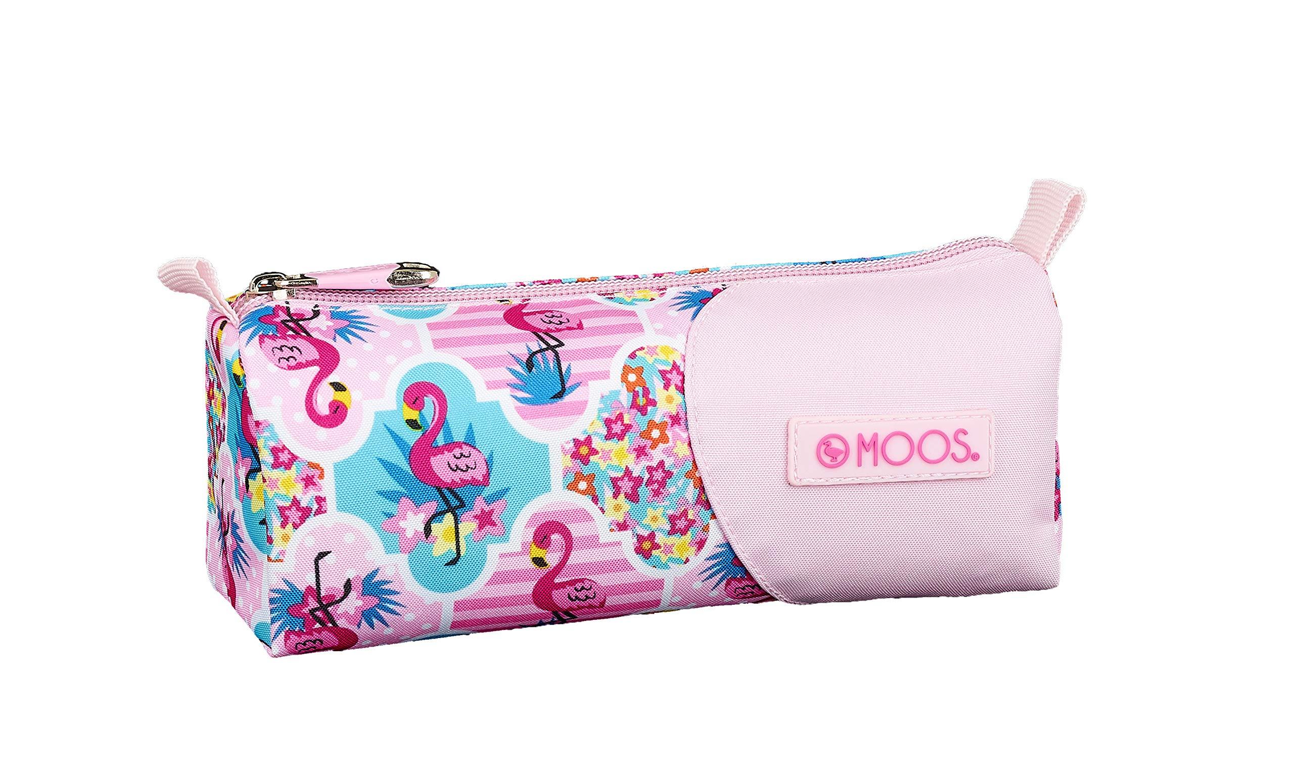 Moos  Flamingo Pink Oficial Estuche Escolar 210x70x80mm