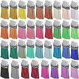140 Pezzi / 35 Colori 40 mm Ciondoli con Nappe in Pelle tappi con Nappa per Chiave Cinghie Catena Accessori Fai Da Te Artigia