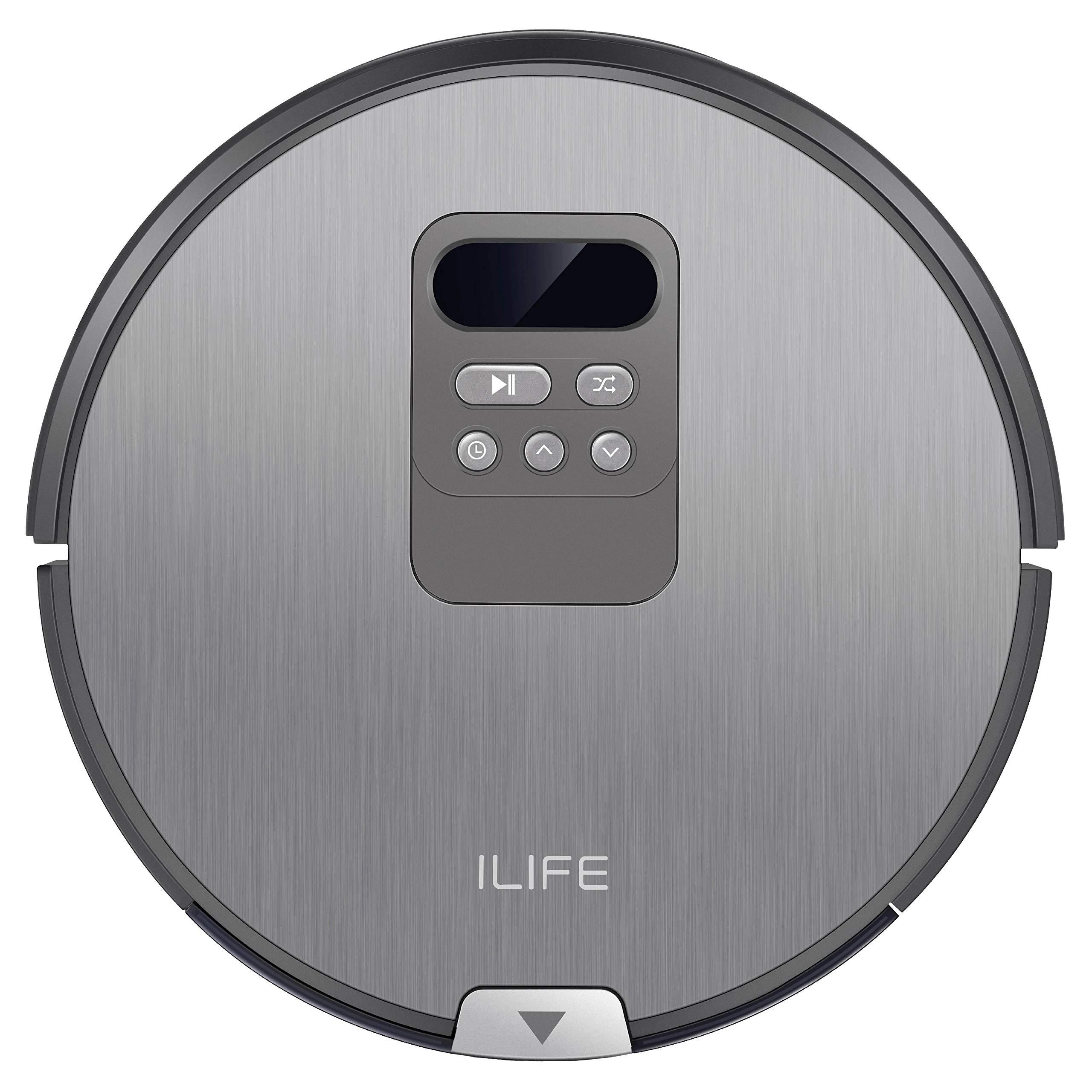 ILIFE V80 Saugroboter mit Wischfunktion | intelligente Navigation | 8cm flach | für alle Böden | über 2 Stunden Laufzeit…