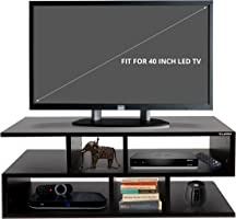 Klaxon Wooden TV Unit (Matte Finish, Black)