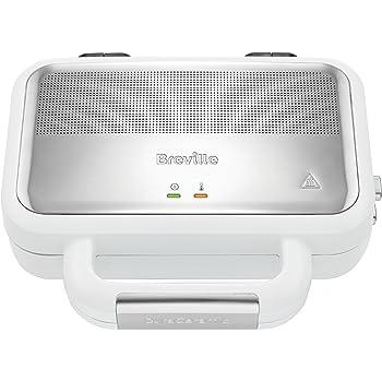 Breville VST074X Hochglanz DuraCeramic Jumbo-Sandwich-Toaster | DuraCeramic Beschichtung | Betriebs- und Bereitschaftsanzeige
