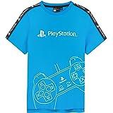 Playstation Camiseta De Manga Corta para Niños, Camiseta Azul De Algodón, Regalos para Niño De Entre 5-15 Años