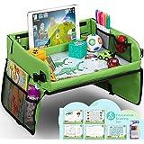 lenbest Barn resebord barnstol lek, pedagogisk leksak för inomhusbruk med 1 transparent ritfilm + 5 ritpapper + 6 färgpennor