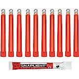 Cyalume Technologies SA8-108078AM Bâton Lumineux, Fluorescent, Durée 12 heures, 15 cm, Rouge (Boîte de 10)