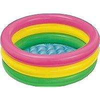 3KB Kid's Inflatable Baby Bath Tub Pool, 2ft, 3-4 years (Multicolour)