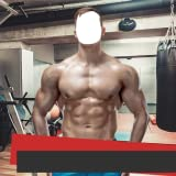 Bodybuilder-Fotomontage