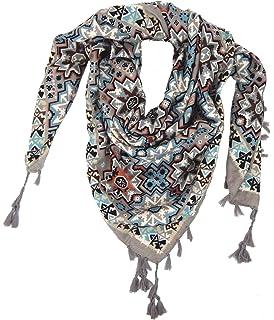 88f92d9c19c Ella Jonte Foulard Écharpe triangle pour femme élégant et tendance de la  dernière collection gris turquoise
