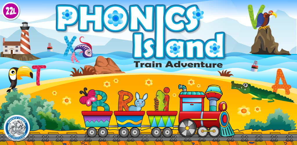 Image of Phonics Island: ABCs First Phonics and Letter Sounds School Adventure vol 1 Kids Ready to Read - Fun Learning Reading Game with Animal Train for Preschool, Toddler & Kindergarten Explorers (Abby Monkey® education edition) by 2 2 learn Lite