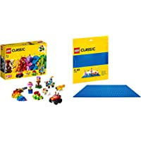 Lego Basic Brick Set with Blue Baseplate