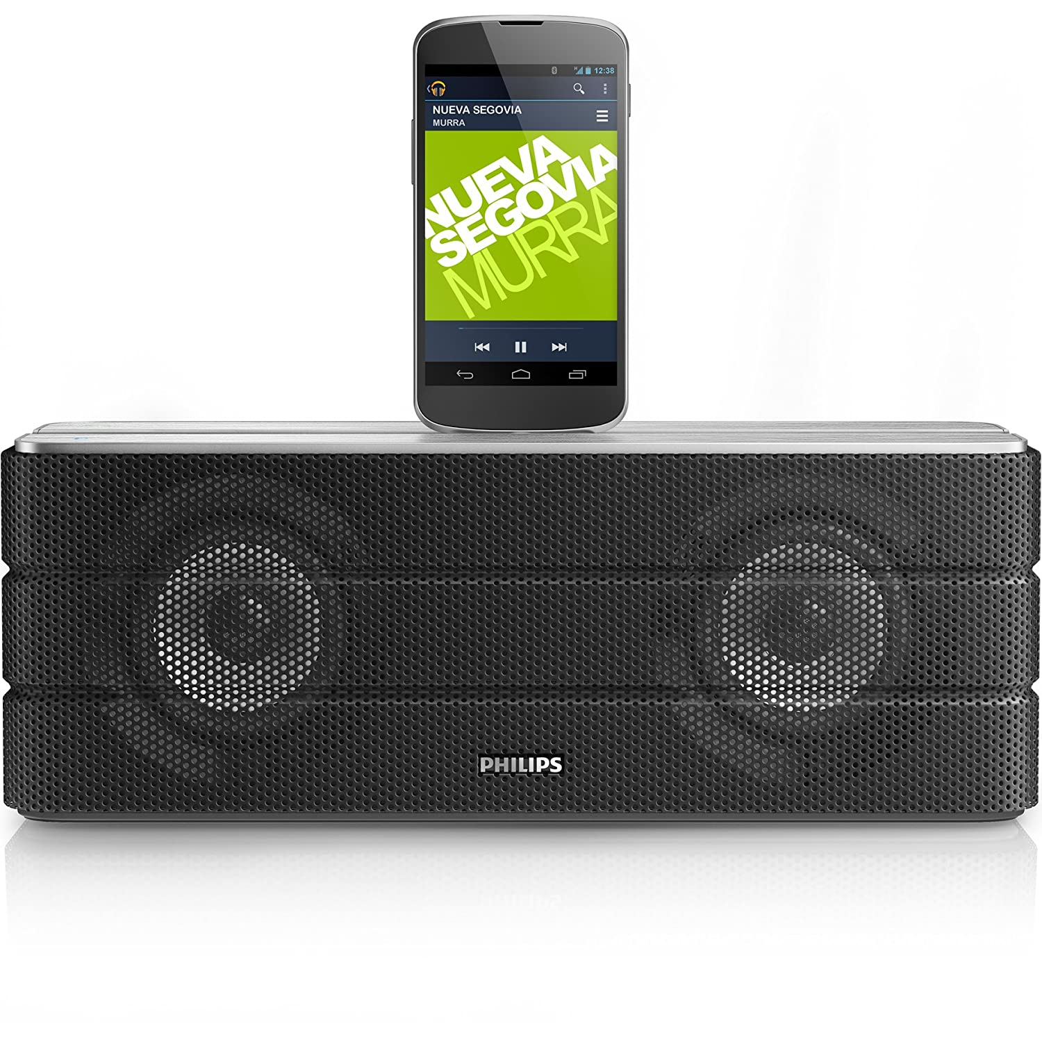 philips as360 12 station d 39 accueil android noire avec. Black Bedroom Furniture Sets. Home Design Ideas