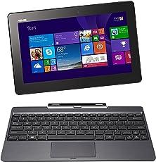 Asus Transformer Book T100TA 25.65 cm (10.1 Zoll) Convertible Tablet PC (Intel Atom Quadcore Z3740 1,3GHz, 2GB RAM, 32GB HDD, Intel HD, Windows 8 Touchscreen) grau