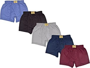 Sathiyas Akash 100% Cotton Boys Trunks - Pack of 5