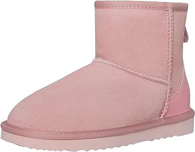 SKUTARI® Classic Boots, Wildlederstiefel mit kuscheligem Kunstfell, gemütliche Damen-Stiefel aus Leder, handgefertigt in Italien, Winterschuhe, Schlupfstiefel, Stiefeletten warm gefüttert