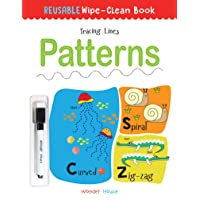 Reusable Wipe And Clean Book Tracing - Lines Patterns : Trace And Practice Patterns (Reusable Wipe and Clean Books)