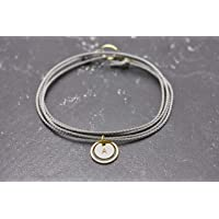 Armband Gravur Circle personalisiert grau Familienarmband