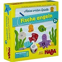 Haba 4983 - Meine ersten Spiele Fische angeln, spannendes Angelspiel mit bunten Holzfiguren, Lernspiel und Holzspielzeug…