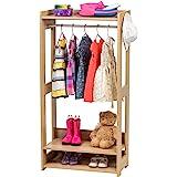 Iris Ohyama Kids Garment Rack KWR-1 Portant/Penderie à vêtements/Porte-Manteaux pour Enfants Multifonctionnel avec étagères d
