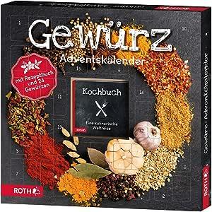 """ROTH Gewürz-Adventskalender """"Kulinarische Weltreise"""" mit 24 Gewürzen und kleinem Rezeptbuch"""