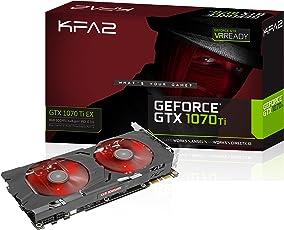 KFA2 GeForce GTX 1070 Ti Ex PCI-E Gaming-Grafikkarte, 8GB GDDR5, Schwarz