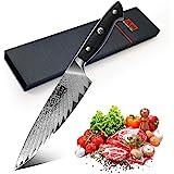SHAN ZU Couteau de Cuisine Damas 20cm, Couteau de Chef Profesional en Acier Japonais AUS-10 à 67 Couches, Couteau Japonais av