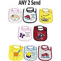 Manan Shopee Waterproof Baby Bib/Soft Baby Bib/Skin Friendly Bib (Color & Print Ship As Per Stock Available- Color & Print May Vary) (Bib Pack of 2)