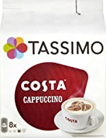 Tassimo Costa Cappuccino Coffee 16 Discs, 8 servings, Pack of 5 (Total 80 Discs/Pods, 40 Servings)