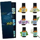 Mainelux Aceites Esenciales para Humidificador, 100% Natural Puro Aromaterapia Top 6 Set de Regalo de Aceites Aromáticos 6 x