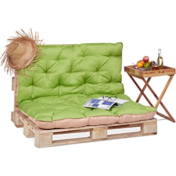 Relaxdays 10023469/_53 Cuscino per Panca con Schienale Imbottitura ...