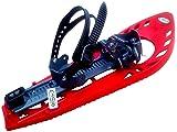 TRIMMY LIGHT Schneeschuhe, ROT/GRAU, mit Fußgelenk-Schnalle (Snowboard Type) oh