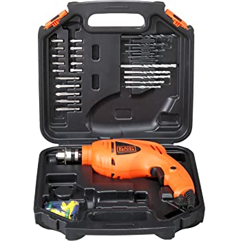 Black+Decker HD400KA50 Impact Drill Kit (Pack of 50), Orange