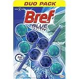 Bref WC Blue Activ' Eucalyptus Duo Pack – 2 toiletblokken (2 x 50 g) – toiletreiniger – ontkalker