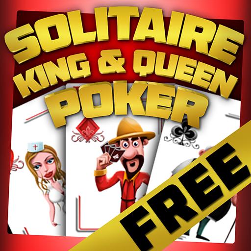 Solitaire King & Queen Poker : das Kartenhaus Hahn-chip