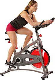 Sunny Health & Fitness Unisex Adult SF-B1423C Chain Drive Indoor Cycling Bike - Grey, One Size