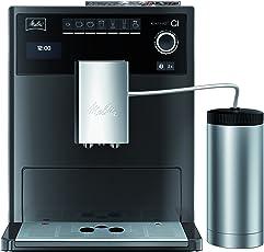 Melitta Caffeo CI, Kaffeevollautomat, Hochglanz-Lackierung in Edelstahloptik