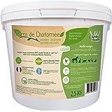 l'herbe Haute ® Terre de Diatomée Blanche Alimentaire - 2,5 kg Seau - Utilisable en Agriculture Biologique - Origine Naturell