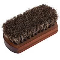 Brosse de nettoyage pour chaussures, manche en bois de conception concave unique, prise confortable, antidérapant pour…