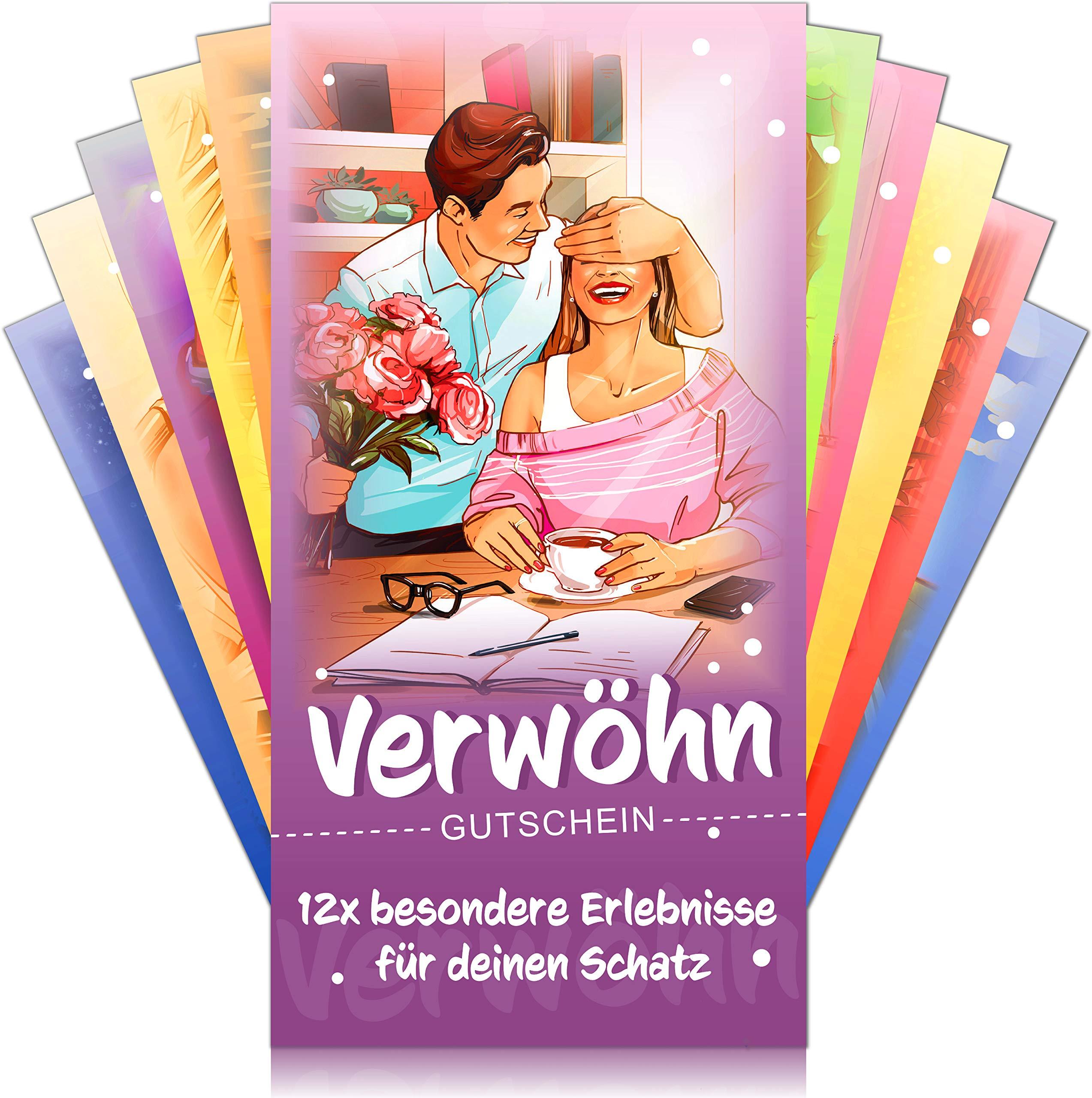 Verwöhngutscheine von VULAVA® + Gratis Online-Handbuch mit 100 Verwöhnideen – die Liebesgutscheine mit 12 romantischen…