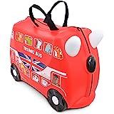Trunki Valise Enfant à Roulette à Chevaucher et Bagage Cabine - Vehicules: Boris le Bus (Rouge)
