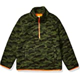Amazon Essentials Polar Fleece Lined Sherpa Quarter-Zip Jackets Fleece-Outerwear-Jackets Niños