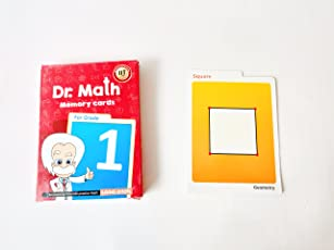 Logic Roots Dr Math (Grade 1) - Memory Flash Cards Summer Gift for Grade 1 Kids Maths for Concepts, Clarity and Recall (Red)
