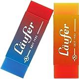 Läufer 69825 Plast Color, gomma bicolore, cancella in modo affidabile matite e matite colorate, in blister contiene 2 gomme p