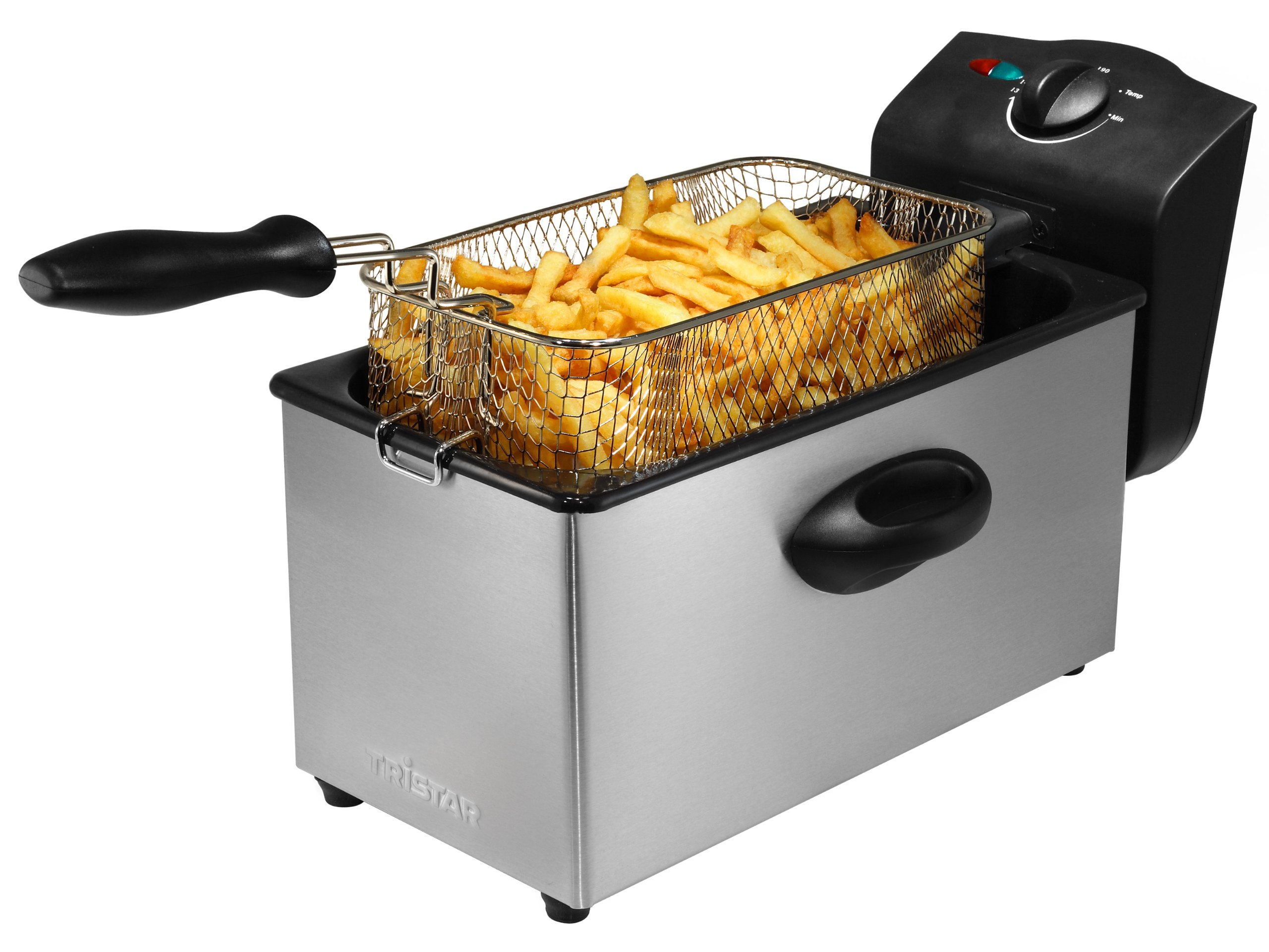 Tristar FR-6933 Single Stand-alone 3L 2000W Black,Grey fryer - fryers (Single, Stand-alone, Black,
