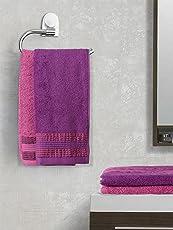 Trident Swirl Bordered 4 Piece 450 GSM Cotton Towel Set