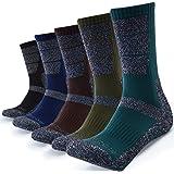 5 Pairs Mens Socks For Hiking Trekking Walking,Breathable Cushion Comfortable Casual Crew Socks