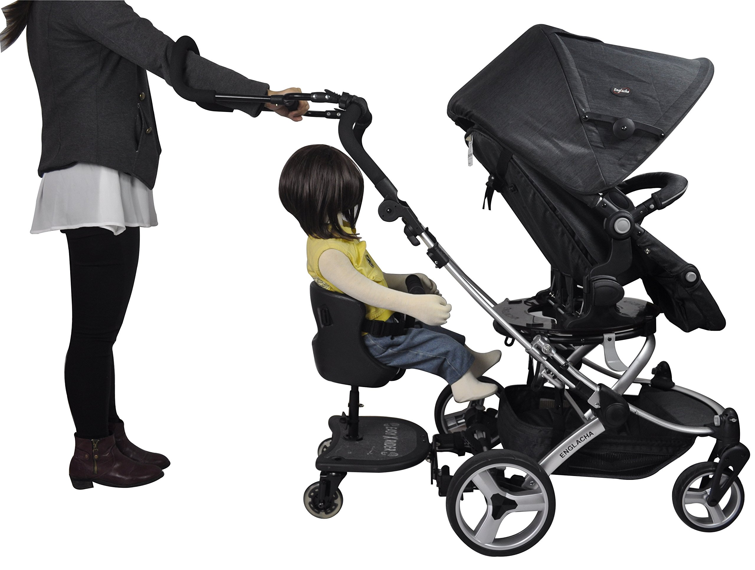 Englacha Cozy Stroll Handle Extension Bar, Black Englacha USA Universal lightweight handle extension bar (aluminum tube) can be installed on any buggy, stroller or pram without extra tools required Allows you control your stroller with just one hand and multitask with your free hand Increases extra at least 12-15 cm space for walking in the back of stroller 6