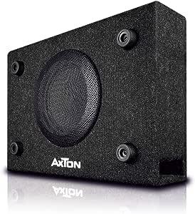 Axton Atb120 Kompakter 20 Cm 8 Zoll Gehäuse Subwoofer 300 Watt Kleine Bassreflex Bassbox Für Auto Lkw Und Reisemobil Plug Play Einfacher Einbau Elektronik
