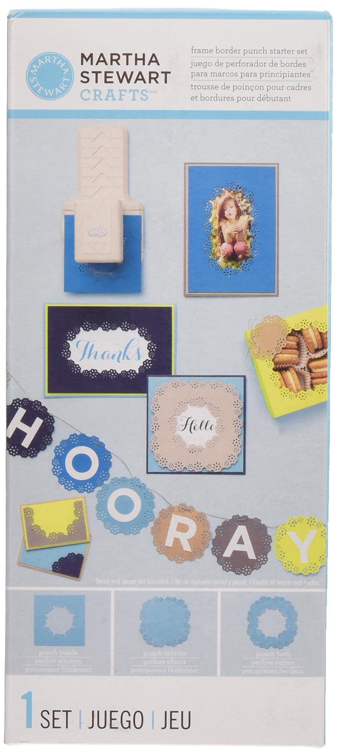 81GfSM DFDL - Martha Stewart-Cornice in plastica Punzone decorativo per bordi, motivo: fiori di occhielli, per principianti
