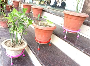 Matka/Plant Pot Stand by Om Craft Villa (Set of 3)