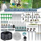 king do way 42M Kit per Irrigazione a Goccia Automatica, Sistema Irrigazione Giardino con Ugello Regolabile e Dripper, Drip I