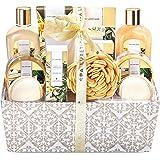 Spa Luxetique Coffret de Bain et de Soins au Parfum de Vanille, 12 Pièces Coffret Cadeau, Bombes de Bain, Sel de bain, Cadeau